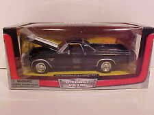 1970 Chevy El Camino SS Pick-up Truck Die-cast Car 1:24 Black New Ray 8 inch