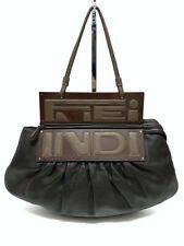 FENDI B bag Borsa a spalla vera pelle colore marrone