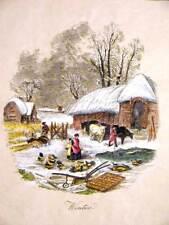 Le 4 stagioni - Inverno  -  cm 30x42 - Stampa incisa e dipinta a mano