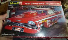 REVELL CHRISTINE 1958 PLYMOUTH FURY PRO MOD 1/25 MODEL CAR MOUNTAIN KIT OPEN