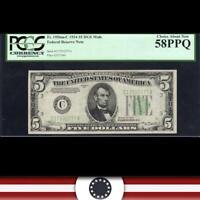 1934 $5 PHILADELPHIA MULE FRN PCGS 58 PPQ  Fr 1956-Cm   32277-DH