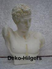 Büste Claudius Figur Stuckgips Dekoration Kopf Säule Statue Kaiser Rom Crem 2033