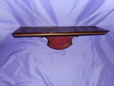 "Vintage Homco Home Interior Wood Wooden Wall Shelf 17 1/2"" With Plate Slot"