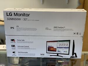 "LG 32"" 1920x1080 HDMI VGA FreeSync IPS HD Monitor - 32MN50W-B"