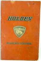 .c1950's / VINTAGE HOLDEN OWNERS MANUAL.
