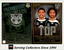 2011 NRL Strike Top Tryscorer TS15 Inu / Vatuvei (Warriors) + Predictor Card