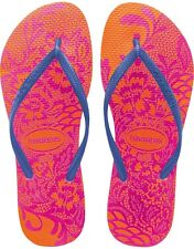 Havaianas Slim Lace Neon Orange Flip Flop Women's Size 11/12, Brazilian 41/42