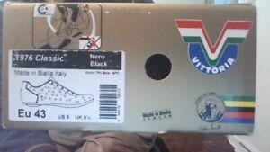 Vittoria 1976 Classic Eu 43 Nero Black Nylon TPU Sole - SPD Cycling Shoes Italy