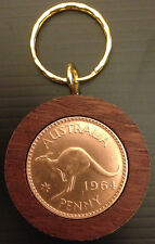 1964 Birthday Gift Present Jarrah Australian Penny Keyring other years available