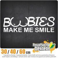 BOOBIES MAKE ME SMILE chf0197 en 3 Tallas JDM Luna Trasera Pegatina