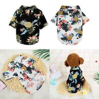 Pet Puppy Summer Hawaiian Style Shirt Dog Cat Pet Kitten Clothes Vest T Shirt