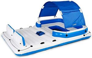 Coolerz Tropical Breeze Floating Island Pool Raft Bestway 6 Person Lake Lounge