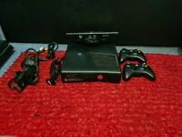 Xbox 360 S 250GB Black Console w/ Kinect- All Cables + 2 Controllers + 12 Games
