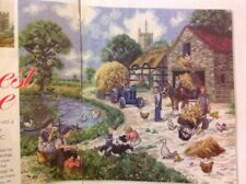 (R) Kevin Walsh Harvest Time Farm Scene Cross Stitch Chart