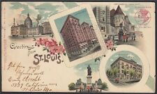 Österreich Postarte 1901 Greetings from St. Louis nach WIEN