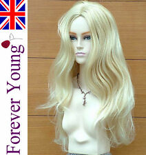 Ladies Stunning XXX Long Platinum Strawberry Blonde Wig Hair. Forever Young Wig