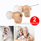 A Pair Hidden In The Ear Invisible Sound Amplifier Adjustable Tone Hearing Aids