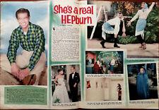 Audrey Hepburn, She 'S A Véritable Hepburn Vintage Film Étoile Article 1957