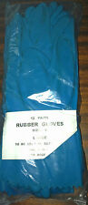 1 dozen pair (12 pair) USDA accepted Rubber gloves, L (blue)