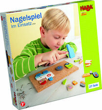 Hammer Game Nail in Operation Construction Worker Builder HABA 2369 Holzteile