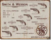 Smith & Wesson Revolvers Metal Wall Sign     400mm x 310mm   (de)