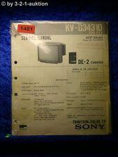 Sony Service Manual KV D3431D (#1481)