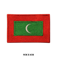 MALDIVES National Flag Embroidered Patch Iron on Sew On Badge For Clothes etc