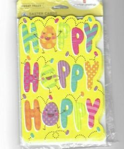 American Greetings Hoppy Easter Pack of 6 Cards w/ Envelopes Happy New Free Ship