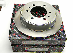 PAIR OF 2 NEW AUTOPART INTERNATIONAL 1407-80330 5704 REAR DISC BRAKE ROTORS