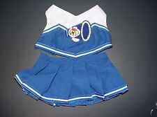 Build a Bear Clothes Clothing Outfit Blue Cheerleader Top & Skirt