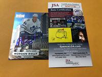 Morgan Rielly Signed Toronto Maple Leafs Card COA