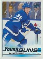 2019-20 Upper Deck Series 1 Rookie Young Guns 222 Rasmus Sandin Maple Leafs