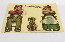 Vintage Paper Ephemera, Postcard, Comic Funny, We Like Each Other, don't we