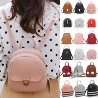 Fashion Women Shoulders Small Backpack Letter Student Girls Phone Messenger Bags