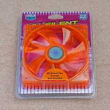Cooler Master 120mm Fan UV Orange Silent Quiet 3 Pin Screws Included!!!