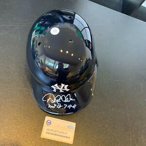 Beautiful Derek Jeter 3000th Hit 7-9-11 Signed Inscribed Baseball Helmet Steiner