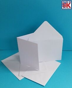 500 x A6  RECYCLED  WHITE BLANK GREETINGS CARDS WITH ENV