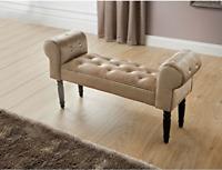 Glitz Diamante Chaise Longue Chair Couch Antique Bench Decorative Sofa