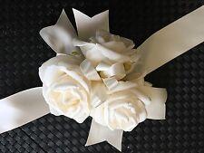 1x Large Ivory foam Rose Wrist Wedding Bridal Flower Corsage