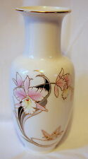 Vintage Fine China Vase Made in Japan with Iris and Butterfly