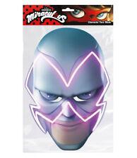 Hawk Moth from Miraculous Single 2D Card Party Face Mask - Cat Noir Lady Bug