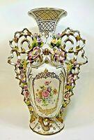"""Vintage Old Paris Porcelain Vase 15 1/2""""tall"""