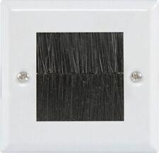AVLINK Brush1w Brush Wallplate - Single White 122.271uk