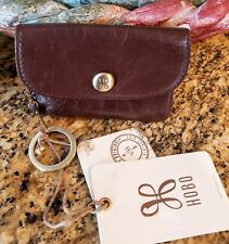 Hobo Espresso Genuine Leather Vintage Hide Small Wallet w/Keychain NWT