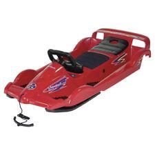AlpenGaudi Doublerace Rot Lenkbob für 2 Personen Doppelsitzer 114x55x28cm Bob