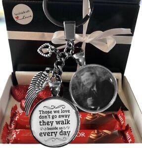 Personalised Memory Loss Photo Keyring Lindt Chocolate Gift Box Birthday Present