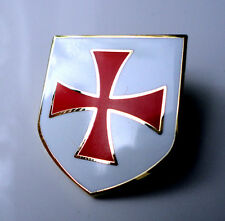 ZP159 Knights Templar Shield Crusader St George Biker Crusade Cross Pin Badge