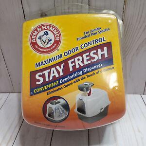 Arm Hammer Stay Fresh Deodorizing Dispenser for Jumbo Hooded Pan System NEW