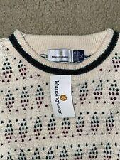 Vintage Musingwear USA Montgomery ward Sweater Crew neck Mens Size XL