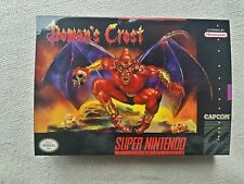 SNES Demons Crest, Custom Art case only, no game included